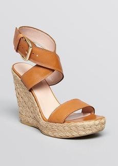 Stuart Weitzman Platform Espadrille Wedge Sandals - Xray