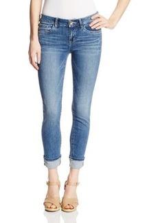 Kensie Jeans Women's 26 Inch Jean Capri with Single Roll Cuff