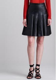 JASON WU Lamb Leather Flounce Skirt