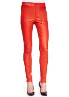 J Brand Ready to Wear Bartlett Leather Skinny Pants
