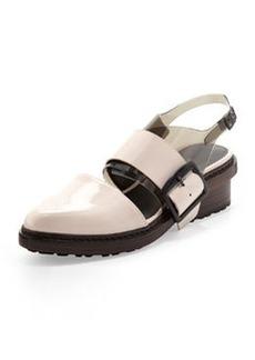 Cristobal Slingback Sandal, Powder/Black   Cristobal Slingback Sandal, Powder/Black