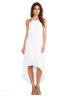 C&C California Asymmetric Hem Halter Dress in White