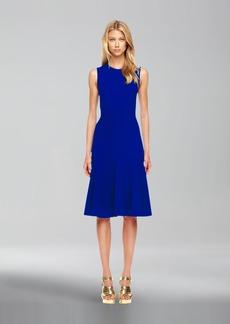 Michael Kors Wool-Crepe Flared Dress
