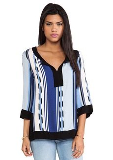 Ella Moss Surfer Stripe Tunic in Blue