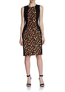 DKNY Lana Sleeveless Leopard-Print Sheath Dress