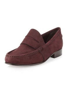 Vera Wang Audrey Suede Penny Loafer, Deep Plum