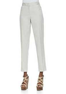 Lafayette 148 New York Downtown Cropped Pants, Raffia
