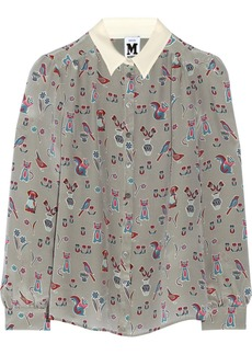 M Missoni Printed silk crepe de chine shirt
