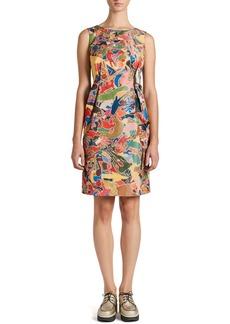 Jil Sander Arte Povera Pleated A-Line Dress