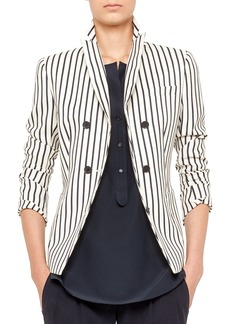 Akris punto Striped Double-Breasted Blazer