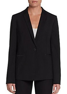 Elie Tahari Darcy Leather-Collar Blazer