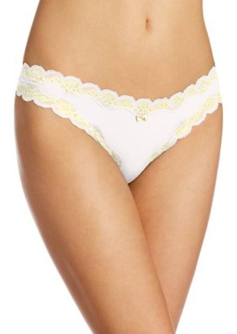 Isaac Mizrahi Womens The One Thong Panty