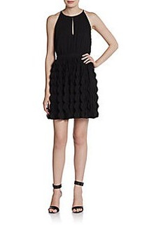 Diane von Furstenberg Gia Scalloped Keyhole Dress