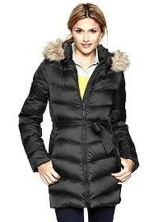 Fur-trim puffer jacket