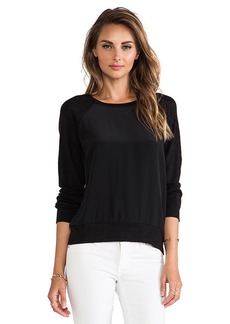 AG Adriano Goldschmied Long Sleeve Swirl Crew in Black