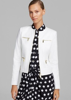 MICHAEL Michael Kors Framed Zip Front Jacket