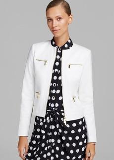 MICHAEL Michael Kors Framed Zip Front Jacket