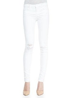 Mid-Rise Super-Skinny Destroyed Jeans   Mid-Rise Super-Skinny Destroyed Jeans