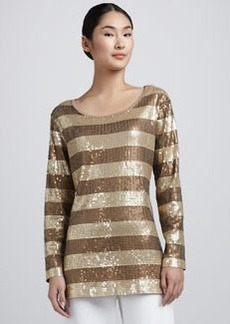 Joan Vass Sequined Tunic, Petite