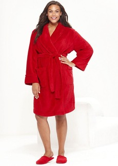 Charter Club Plus Size Supersoft Short Shawl Collar Robe