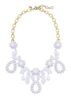 Bead droplet statement necklace