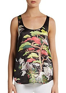 French Connection Printed Silk Tank