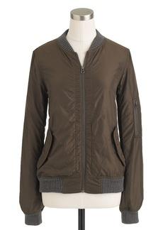 Bonded nylon bomber jacket