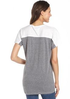 C & C California white and grey cotton slub jersey tunic t-shirt