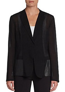 Elie Tahari Abby Sheer Jacket