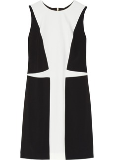 Versace Two-tone stretch-cady shift dress
