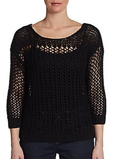 DKNY Illusion Chunky-Knit Pullover