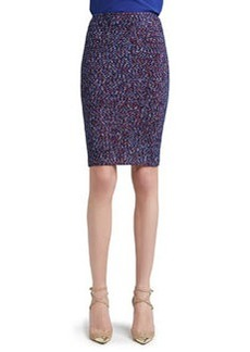 St. John Collection Looped Lash Tweed Knit Pencil Skirt