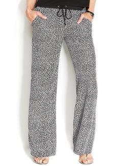 MICHAEL Michael Kors Wide-Leg Printed Pants