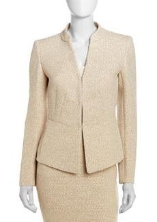Lafayette 148 New York Macie Tweed Stand Collar Jacket, Raffia