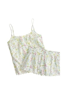 Scalloped pajama short set in Liberty Theodora floral