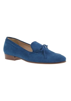Suede bow loafers