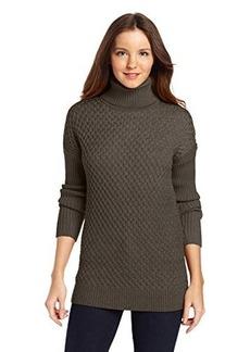 Calvin Klein Women's Honeycomb Turtle Neck Sweater
