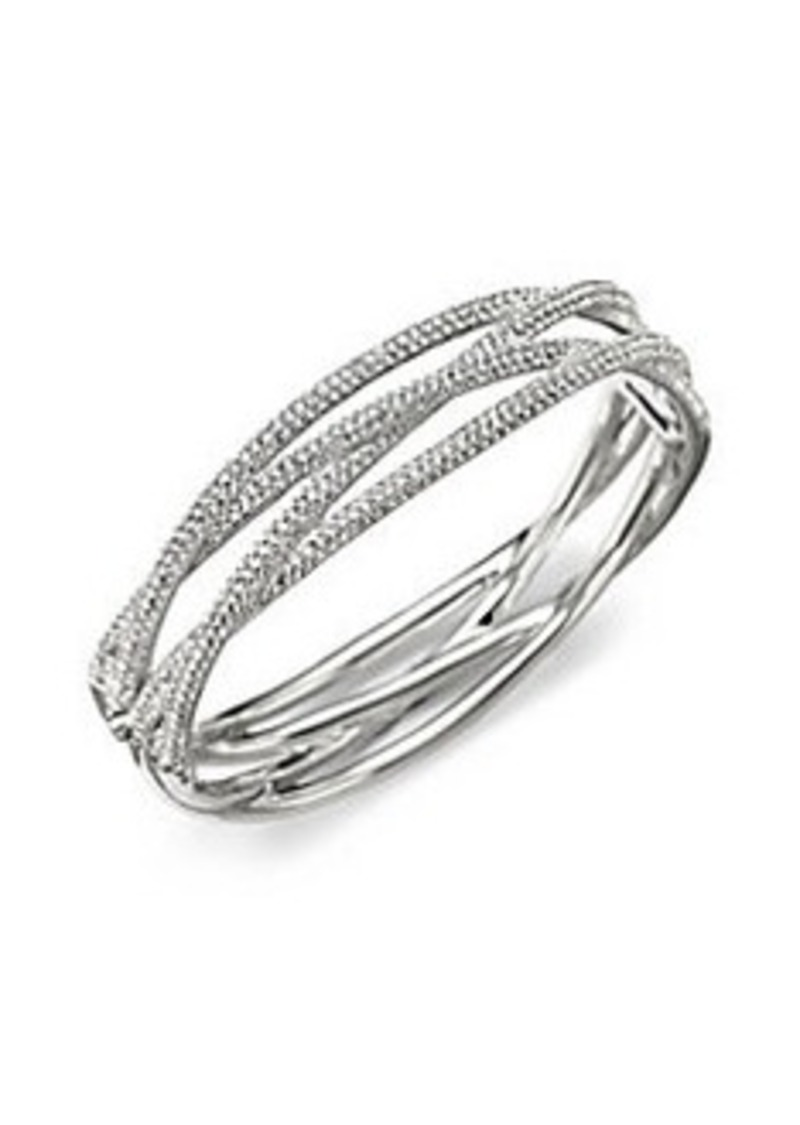 Adriana Orsini Pavé Intertwined Bangle Bracelet