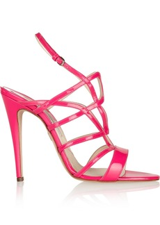 Brian Atwood Gwen cutout patent-leather sandals