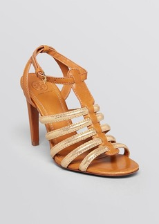 Tory Burch Open Toe Gladiator Sandals - Charlene High Heel