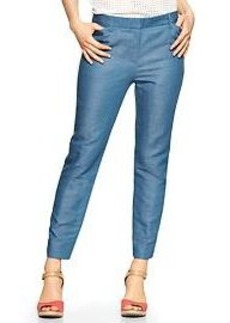 Slim cropped linen pants