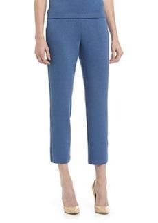 St. John Santana Knit Ankle Pants, Bristol Blue