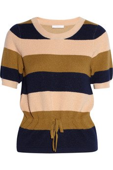 Chloé Striped cashmere French terry sweater