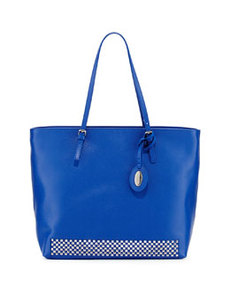 Furla D-Light Studded Medium Tote, Ocean