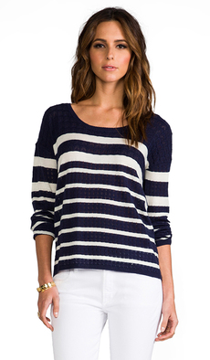 Soft Joie Bravo Long Sleeve Tee in Blue