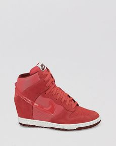Nike Lace Up High Top Wedge Sneakers - Women's Dunk Sky Hi Essential