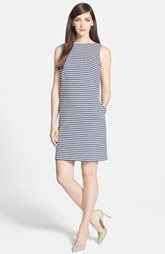 Lafayette 148 New York Stripe Ponte Shift Dress