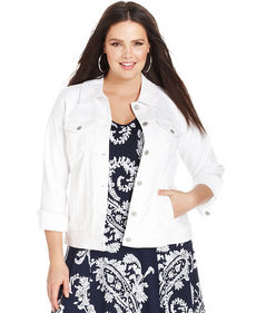 Levi's® Plus Size Denim Jacket, Winter White Wash