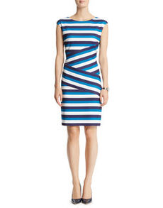Banded Textured Zipper Dress