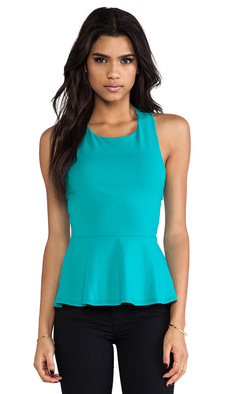 Susana Monaco Zoe Cross Back Tank in Teal